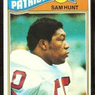NEW ENGLAND PATRIOTS SAM HUNT 1977 TOPPS # 356 EX
