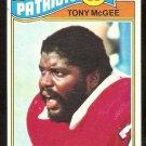 NEW ENGLAND PATRIOTS TONY McGEE 1977 TOPPS # 378 VG