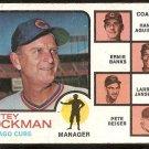 CHICAGO CUBS WHITEY LOCKMAN W/ ERNIE BANKS 1973 TOPPS # 81 good
