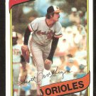 BALTIMORE ORIOLES SCOTT McGREGOR 1980 TOPPS # 237 NR MT