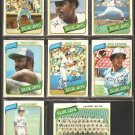 1980 TOPPS TORONTO BLUE JAYS TEAM LOT 23 DIFF DAVE STIEB RC TEAM CARD RICO CARTY CERONE +