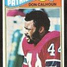 NEW ENGLAND PATRIOTS DON CALHOUN ROOKIE CARD RC 1977 TOPPS # 518 VG+