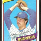 MILWAUKEE BREWERS JERRY AUGUSTINE 1980 TOPPS # 243 NR MT