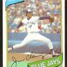 Toronto Blue Jays Jim Clancy 1980 Topps Baseball Card # 249 nr mt
