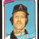 California Angels John Montague 1980 Topps Baseball Card # 253 nr mt