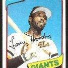 San Francisco Giants Larry Herndon 1980 Topps Baseball Card # 257 nr mt