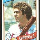 St Louis Cardinals Bernie Carbo 1980 Topps Baseball Card # 266 ex