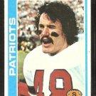 New England Patriots Tim Fox 1978 Topps Football Card # 242 ex