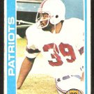 New England Patriots Sam Cunningham 1978 Topps Football Card # 341 ex