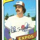 Montreal Expos Dan Schatzeder 1980 Topps Baseball Card # 267 vg/ex
