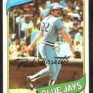 Toronto Blue Jays Rick Bosetti 1980 Topps Baseball Card # 277 nr mt