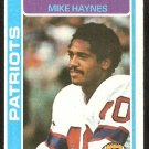 New England Patriots Mike Haynes 1978 Topps Football Card # 380 vg/ex