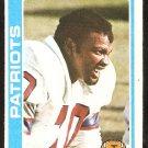 New England Patriots Leon Gray 1978 Topps Football Card # 441 ex/em