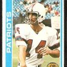 New England Patriots Steve Grogan 1978 Topps Football Card # 485 ex/em