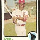 Chicago White Sox Jorge Orta 1973 Topps Baseball Card # 194 ex
