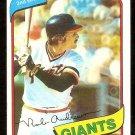 San Francisco Giants Rob Andrews 1980 Topps Baseball Card # 279 nr mt