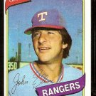 Texas Rangers John Ellis 1980 Topps Baseball Card # 283 nr mt