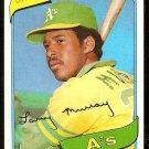 Oakland Athletics Larry Murray 1980 Topps Baseball Card # 284 nr mt