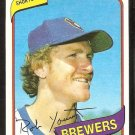 Milwaukee Brewers Robin Yount 1980 Topps Baseball Card # 265 ex mt