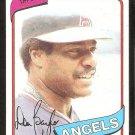 California Angels Don Baylor 1980 Topps Baseball Card # 285 nr mt