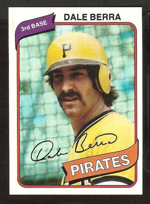 Pittsburgh Pirates Dale Berra 1980 Topps Baseball Card # 292 nr mt