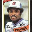 Atlanta Braves Charlie Spikes 1980 Topps Baseball Card # 294 nr mt