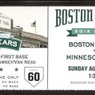 Minnesota Twins Boston Red Sox 2012 Ticket Josh Willingham Ryan Doumit Adrian Gonzalez Carl Crawford