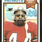 New England Patriots Don Calhoun 1979 Topps Football Card # 136 vg/ex