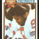 New England Patriots Julius Adams 1979 Topps Football Card # 242 ex