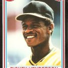 Oakland Athletics Rickey Henderson 1990 Post Cereal Baseball Card # 25