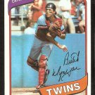 Minnesota Twins Butch Wynegar 1980 Topps Baseball Card # 304 nr mt