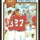 New England Patriots Doug Beaudoin 1979 Topps Football Card # 401 nr mt