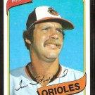 Baltimore Orioles Tim Stoddard 1980 Topps Baseball Card # 314 nr mt