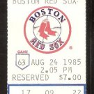 MINNESOTA TWINS BOSTON RED SOX 1985 TICKET KIRBY PUCKETT WADE BOGGS 2 COMPLETE GAMES NO RBI