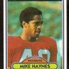 New England Patriots Mike Haynes 1980 Topps Football Card # 415 ex