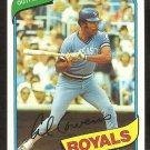 Kansas City Royals Al Cowans 1980 Topps Baseball Card # 330 nr mt
