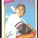 Cleveland Indians Jim Norris 1980 Topps Baseball Card # 333 nr mt