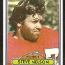 New England Patriots Steve Nelson 1980 Topps Football Card # 452 ex