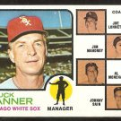 Chicago White Sox Chuck Tanner and Coaches 1973 Topps Baseball Card # 356 ex mt
