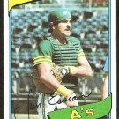 Oakland Athletics Jim Essian 1980 Topps Baseball Card # 341 nr mt