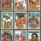 1980 Topps New England Patriots Team Lot Steve Grogan John Hannah Mike Haynes Raymond Clayborn