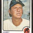 New York Yankees Casey Cox 1973 Topps Baseball Card # 419 vg