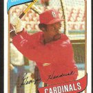 St Louis Cardinals George Hendrick 1980 Topps Baseball Card # 350 nr mt
