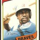 Atlanta Braves Gary Matthews 1980 Topps Baseball Card # 355 nr mt