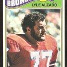 Denver Broncos Lyle Alzado 1977 Topps Football Card # 386 vg/ex