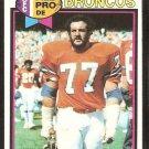 Denver Broncos Lyle Alzado 1979 Topps Football Card # 420 vg/ex