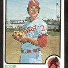 Chicago White Sox Eddie Fisher 1973 Topps Baseball Card # 439