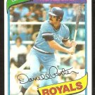 Kansas City Royals Darrell Porter 1980 Topps Baseball Card # 360 nr mt
