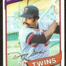 Minnesota Twins Danny Goodwin 1980 Topps Baseball Card # 362 nr mt