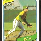 Oakland Athletics Wayne Gross 1980 Topps Baseball Card # 363 ex